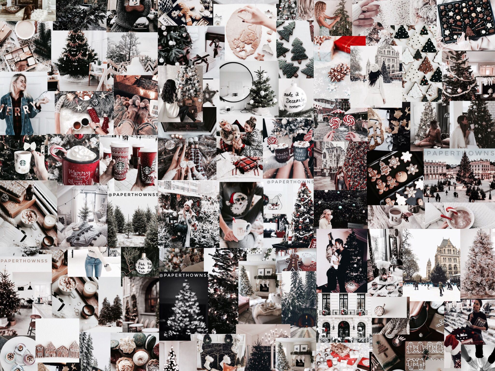 Christmas Collage Wallpaper By Paperthownss For Ipad Christmas Collage Xmas Wallpaper Ipad Wallpaper