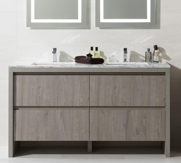 Liland 59 Double Sink Vanity In 2021, 59 Bathroom Vanity Single Sink