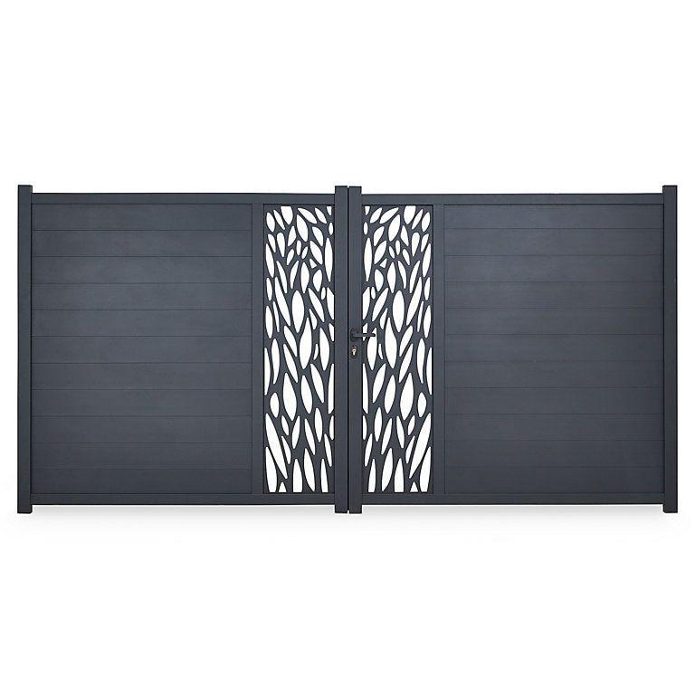 Blooma Aluminium Gate H 1 7m W 3 5 M Diy At B Q Aluminium