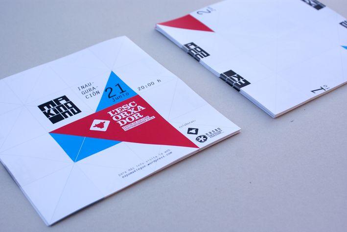 Flyer para la exposición MAKING ON, by Pablo Sevilla