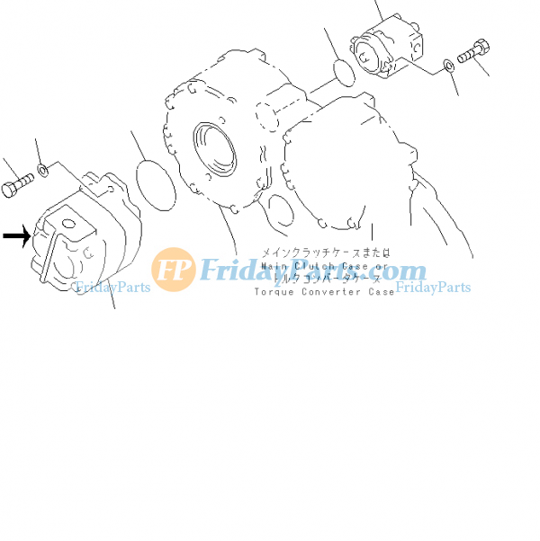For Komatsu Bulldozer D60P D65E D70LE D85E Hydraulic Pump