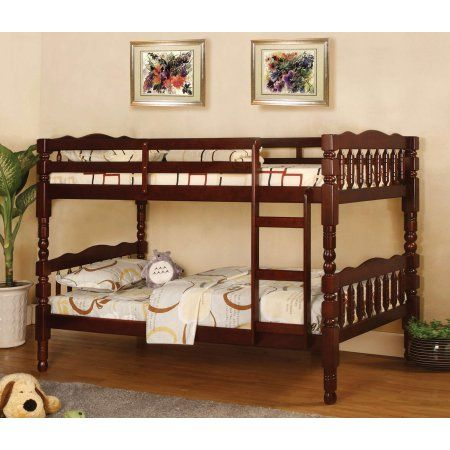 furniture of america maren twin over twin wooden bunk bed multiple rh pinterest com