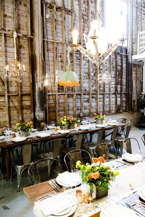 Unique Dinner Party Ideas Part - 41: Take A Look At This Unique Dinner Party Set At A Sound Stage | Domino.