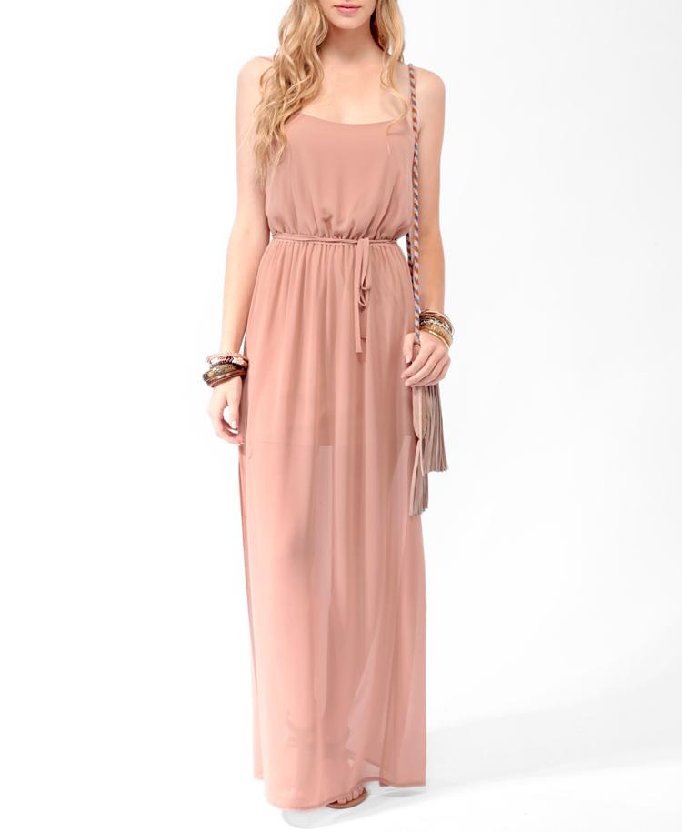 Cutout Side Slit Maxi Dress | FOREVER21 - 2014718842 | 24