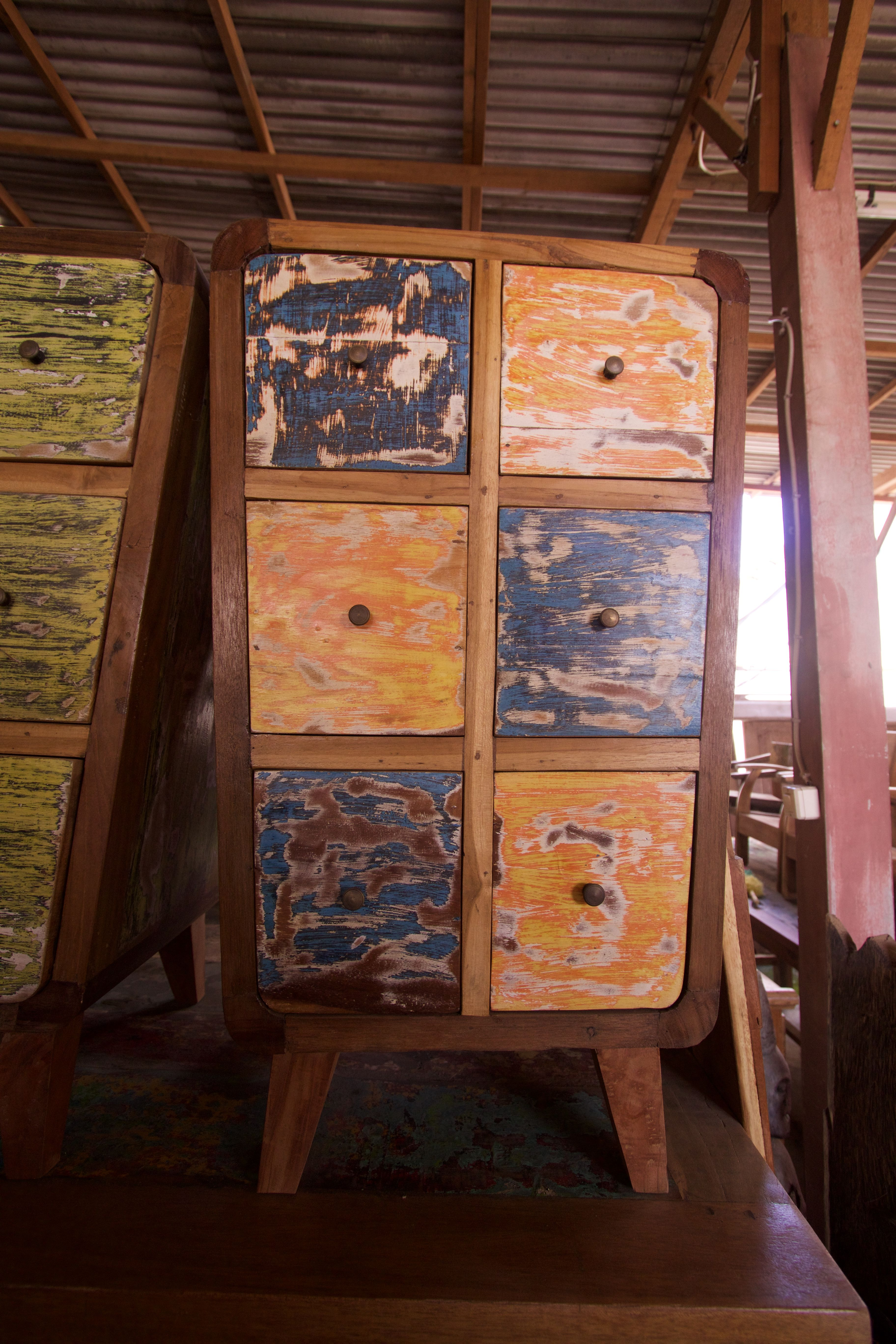 Go green with our new reclaimed teak western decor furniture available - Recycled Teak Indonesian Boat Furniture