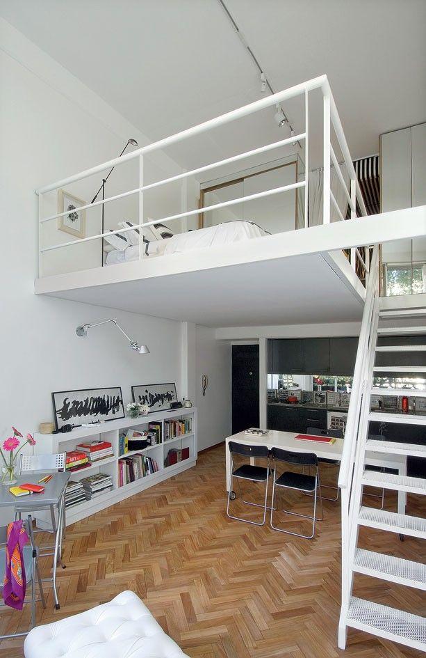 mezzanine   modern house   pinterest   loft-schlafzimmer, lager, Hause ideen