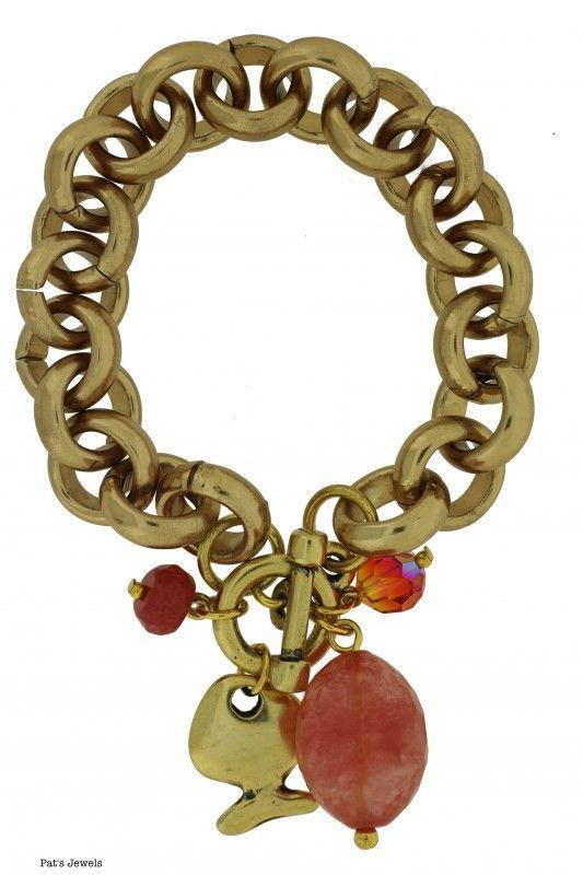 Golden Classy Cherry Quartz   Golden Classy   Pat`s Jewels