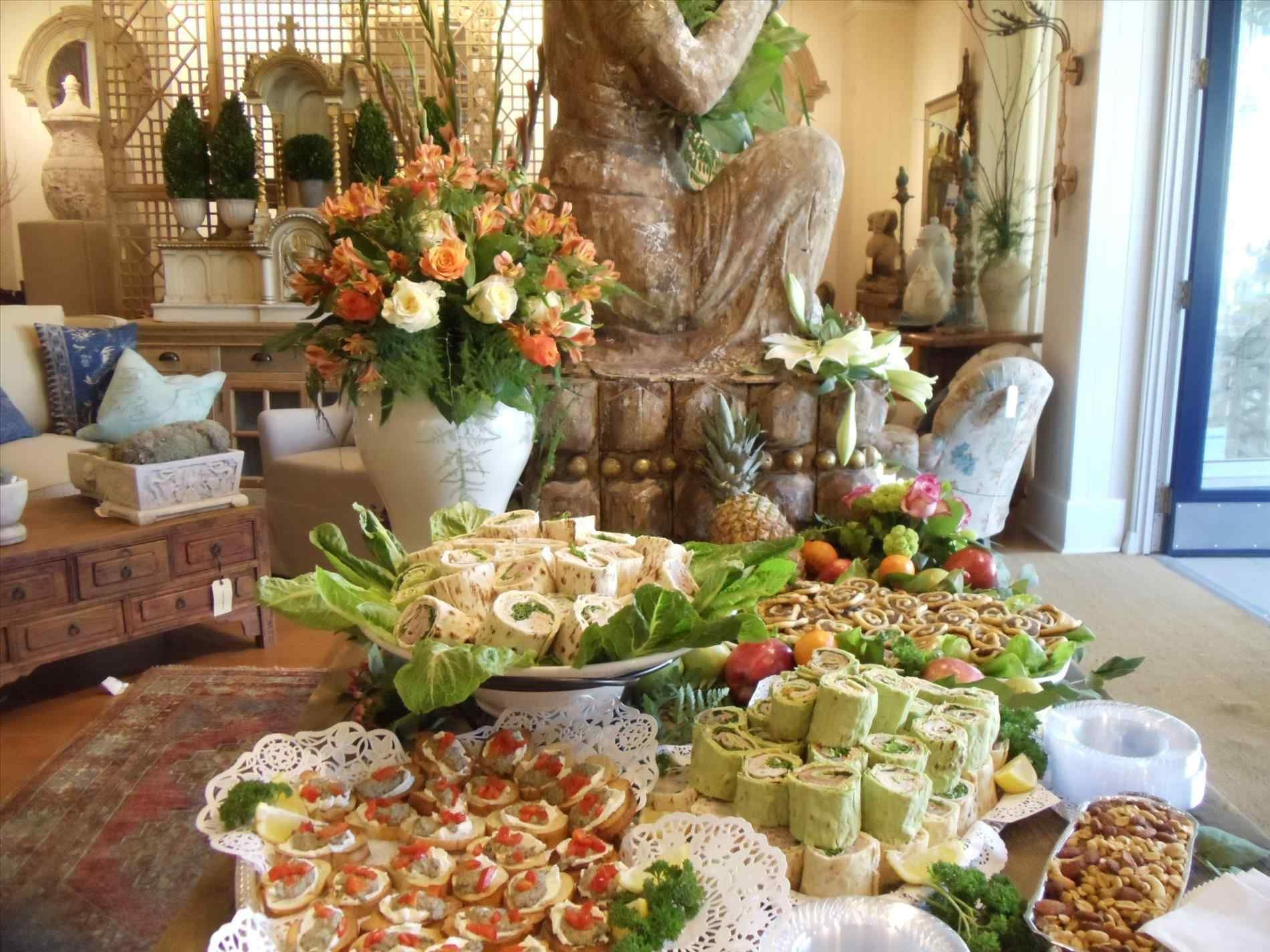 And Asian Vegetables Cuisine At Presentation For Graduation Party Misc Pinterest Food Buffet Table Food Display Buffet Table Decor Food Displays Buffet Table