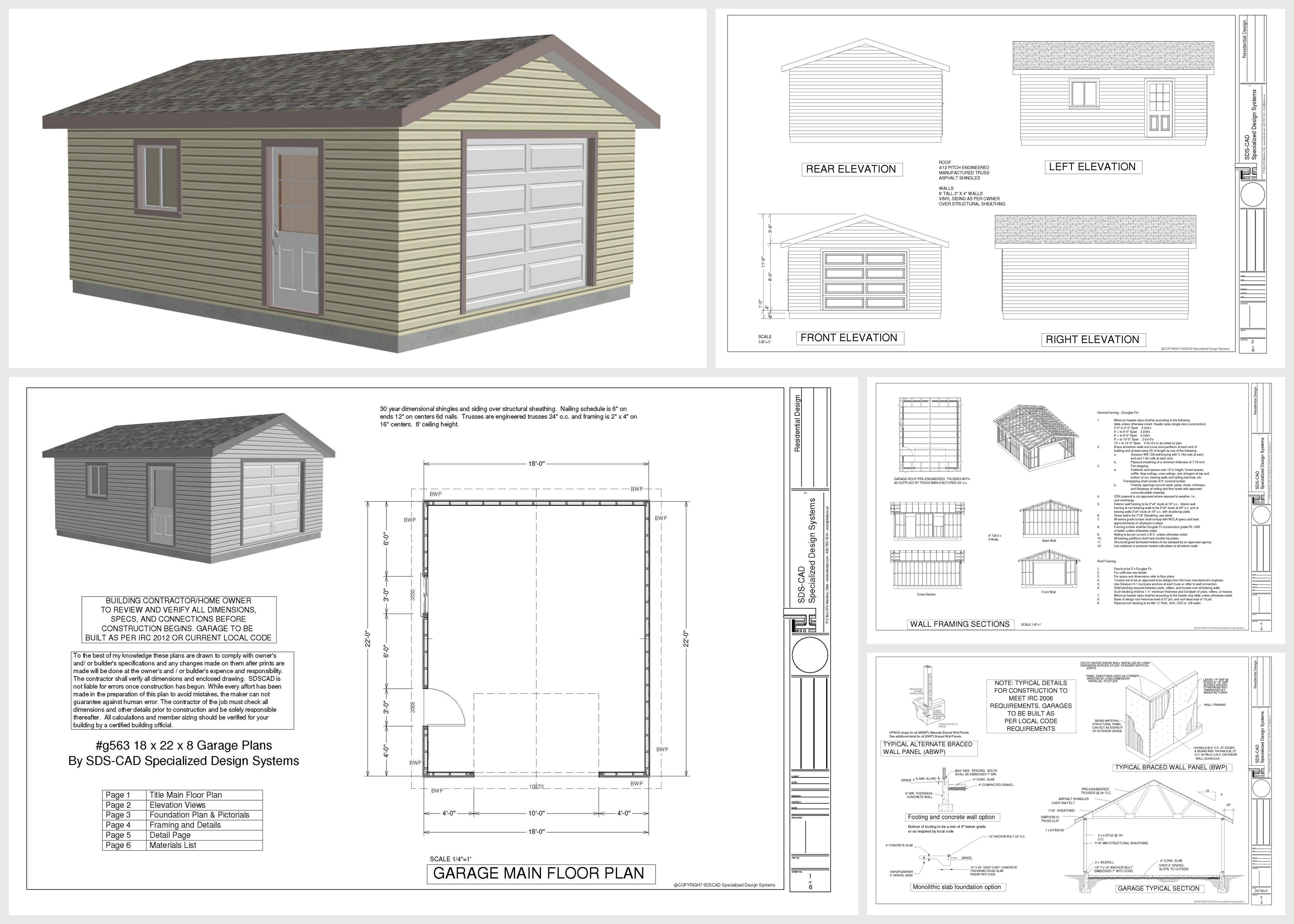 Incredible Download Free 18 X 22 Garage Plans Sdsplans Com Garage Largest Home Design Picture Inspirations Pitcheantrous