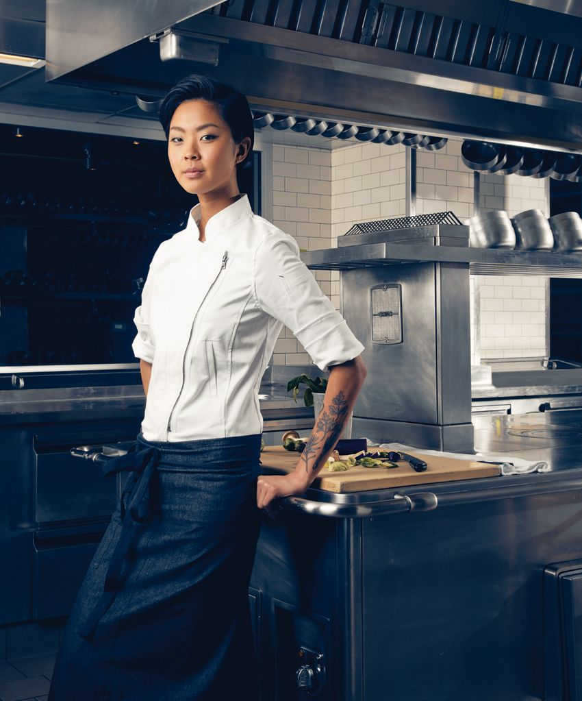 Kristen Kish: Chef de Couture: Shannon Reed's Innovative Chef's Coats and Aprons.  Read about designe...
