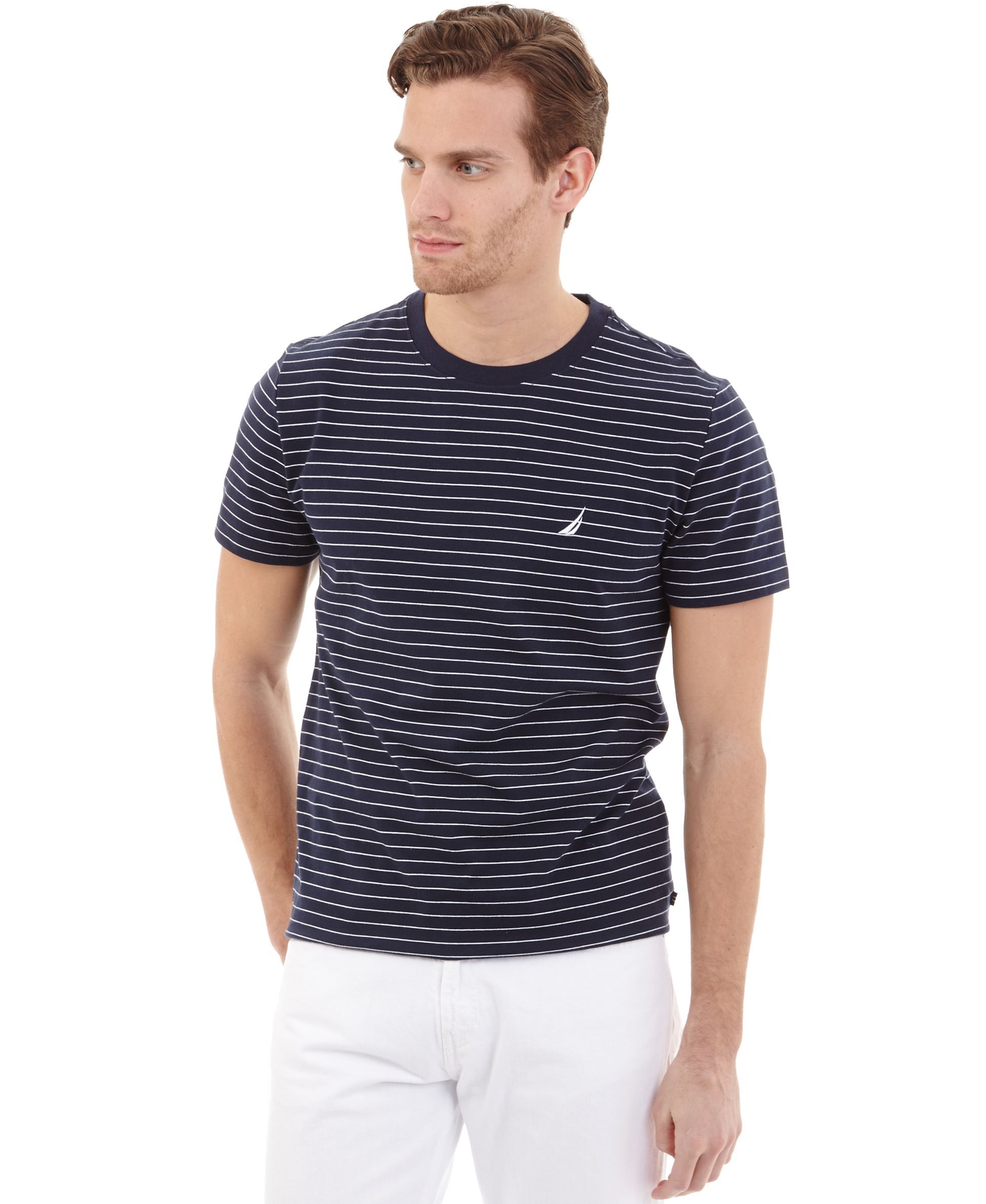 07912e82267 Nautica Striped Crew-Neck T-Shirt