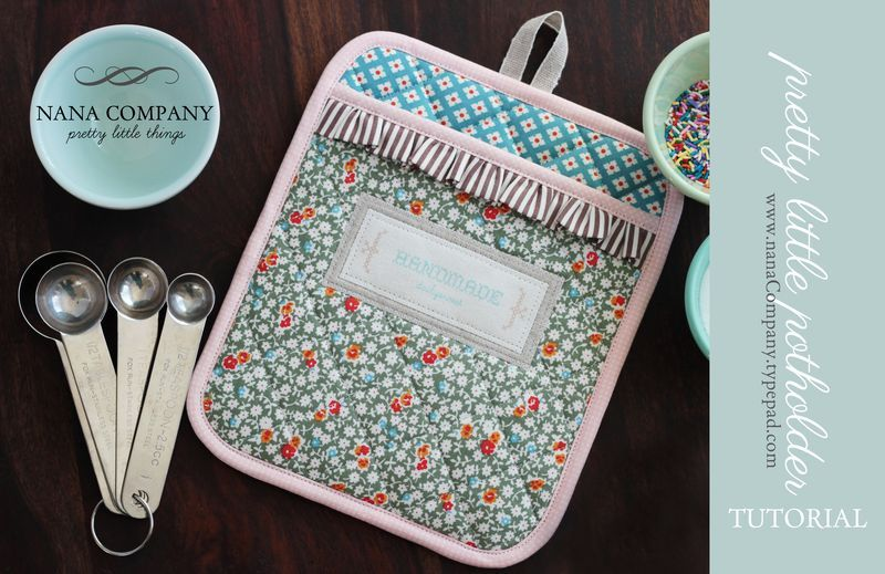 pretty little potholder tutorial :: a DIY step-by-step guide | Pimp ...