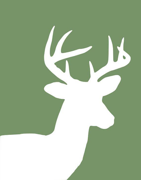 deer silhouette | DIY | Pinterest | Hirsche, Rentiere und Vorlagen