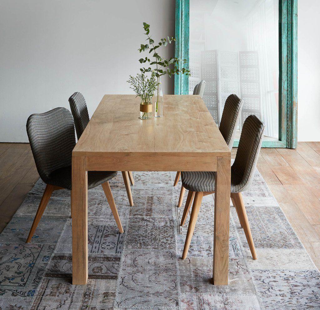 Bonifacio Teak Dining Table 6 Seater Natural Meuble Salon Meuble Bonifacio