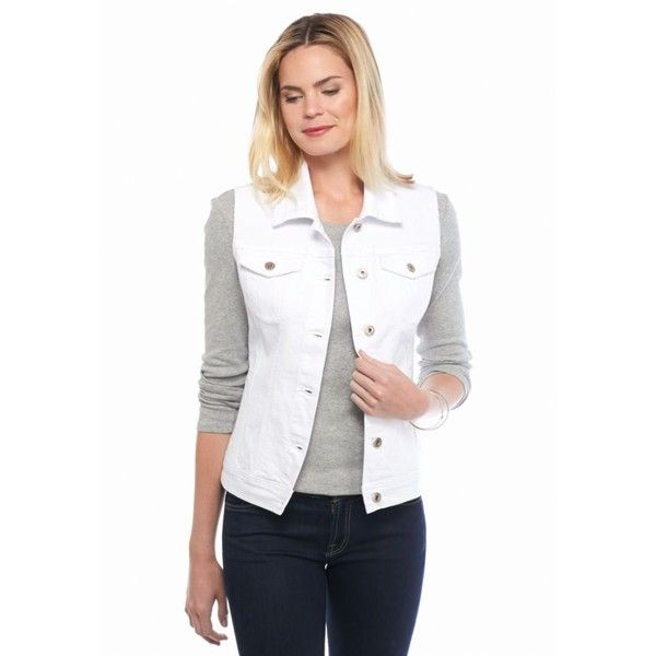 Live A Little White Denim Vest - Women's ($40) ❤ liked on ...
