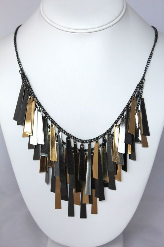 Bar Fringe Necklace