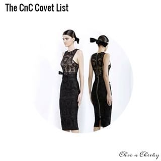 Short of winning the lottery & satisfying every fashion whim, I have created a new category on the blog called The Chic n Cheeky Covet List. Kicking things off is this black & white collection.