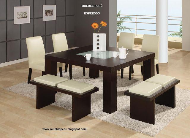 Comedores Modernos de Madera - muebles en madera modernos