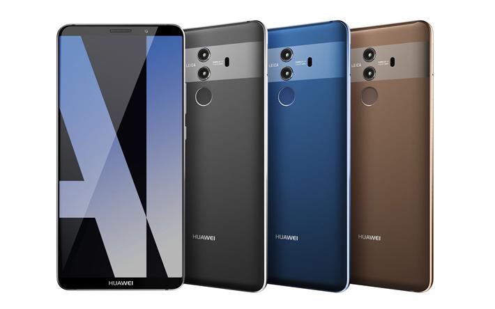 Download Wallpapers Huawei Mate 10 New Smartphones New Technologies Huawey Besthqwallpapers Com Technologie Nouvelles Technologies Le Pre
