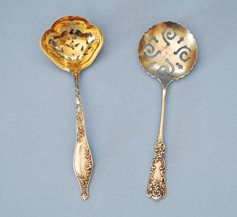 Sterling Silver Confection Spoon c. 1900 - Confection spoons were used to sift powdered sugar over berries and pastries.
