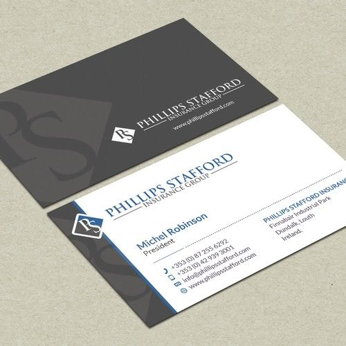 Create a professional modern business card design for a ...