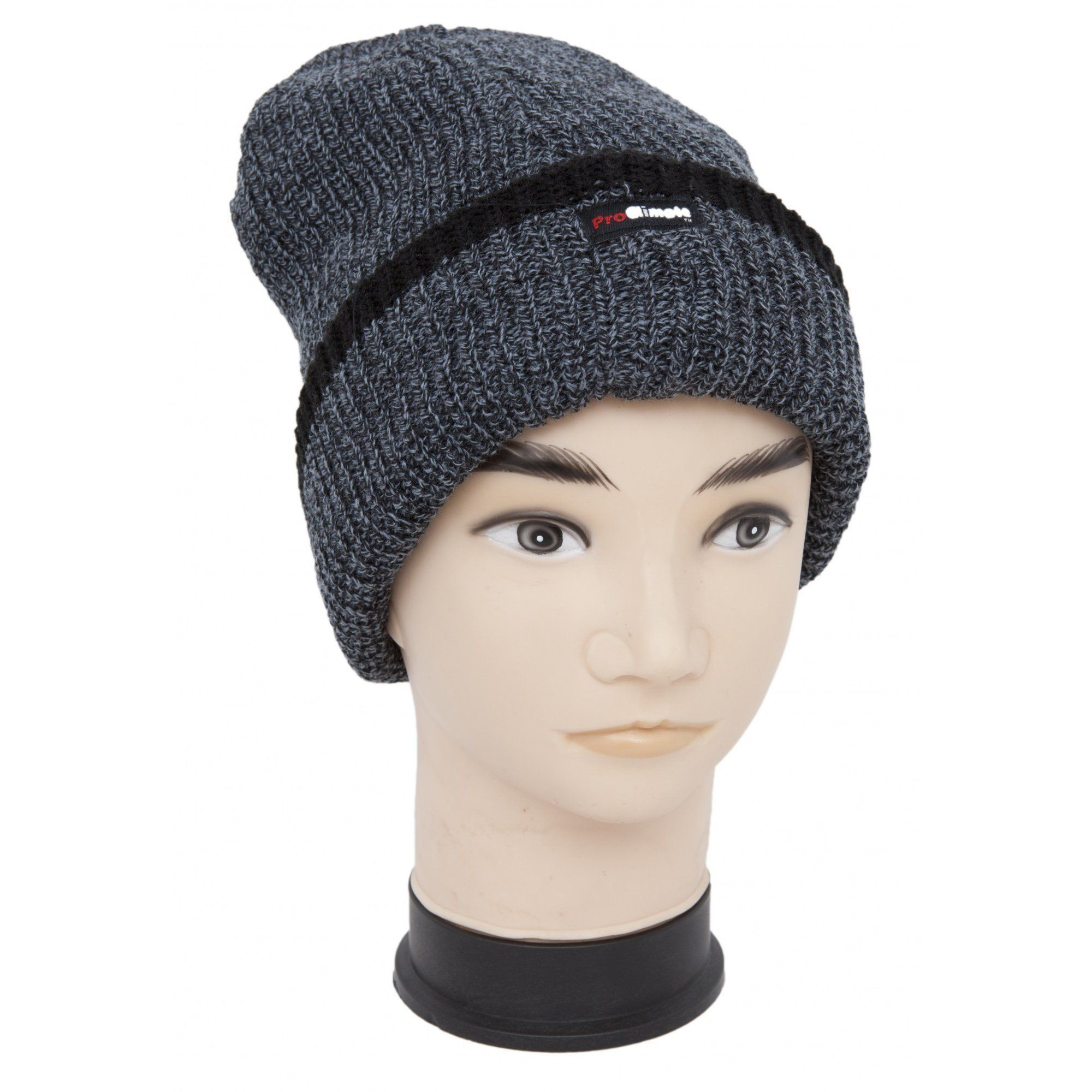 204e89a274b Mens Thinsulate Knitted Thermal Heavy Winter Ski Hat