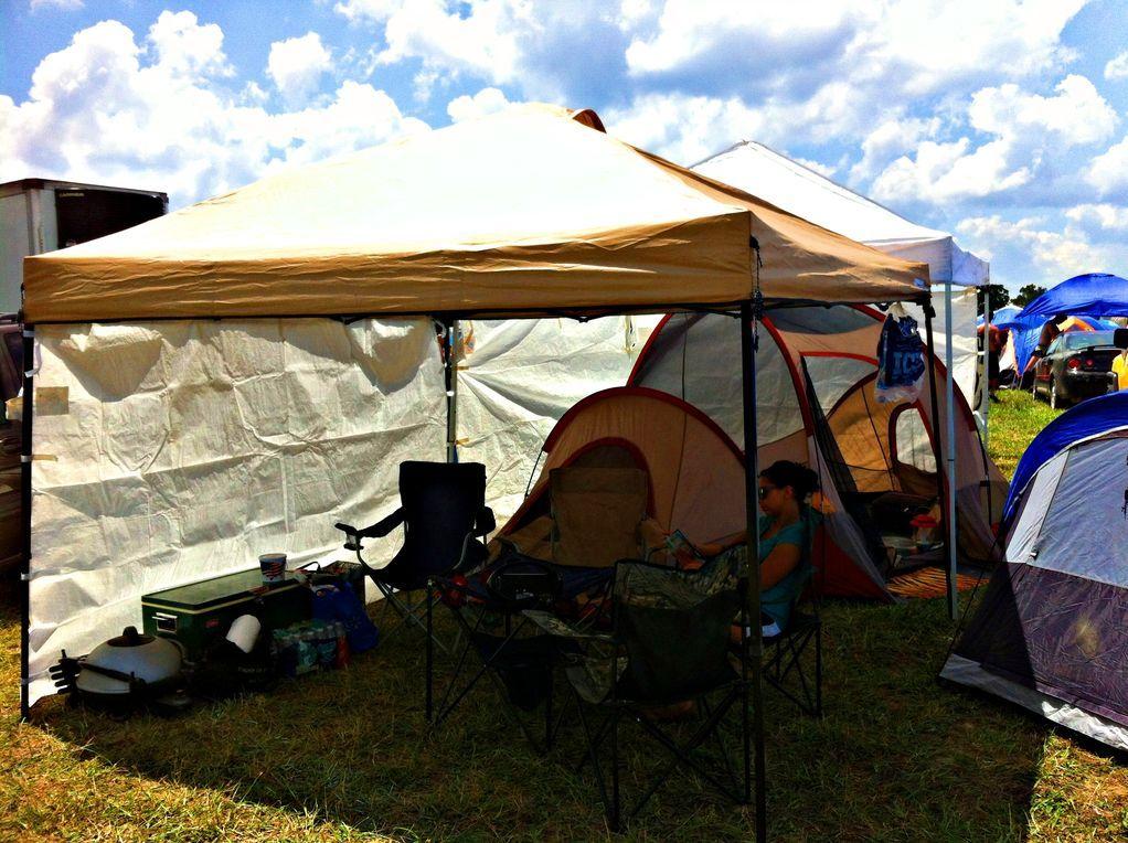 Campsite setup idea easy camping hacks festival camping