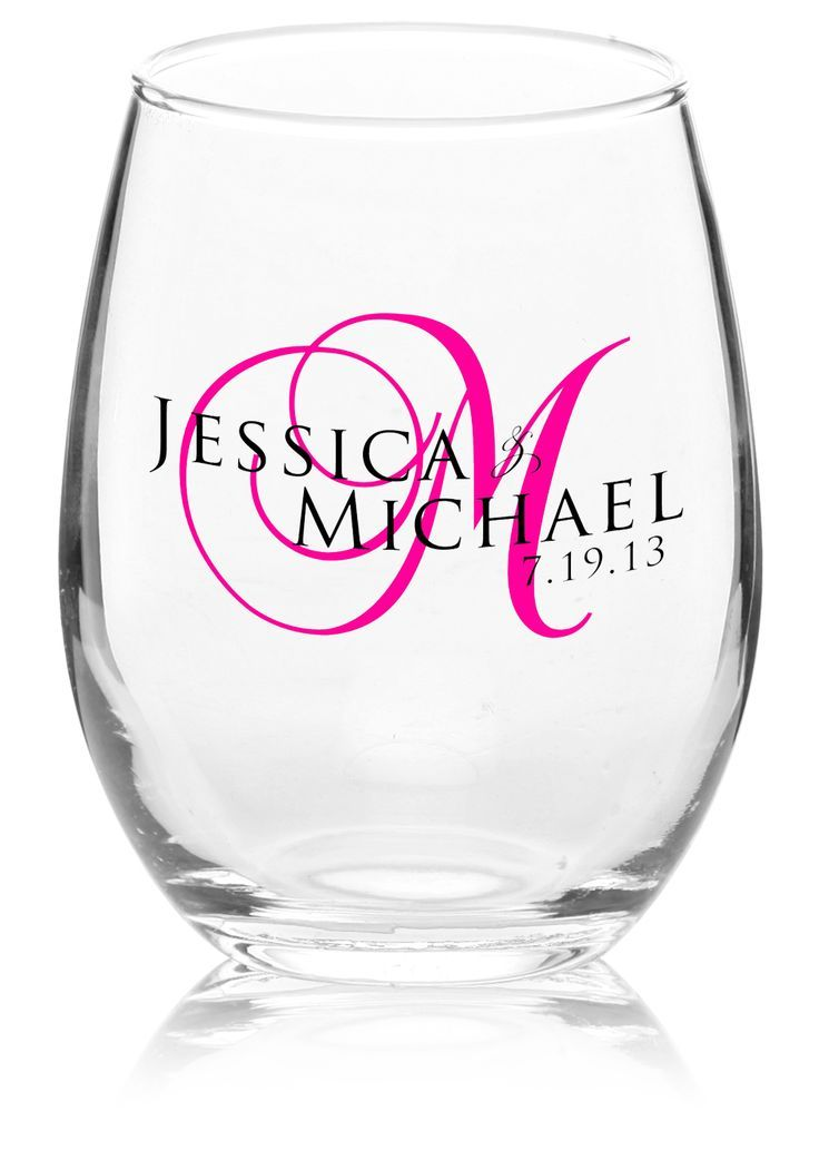 Custom 9oz Arc Perfection Personalized Stemless Wine Glasses From