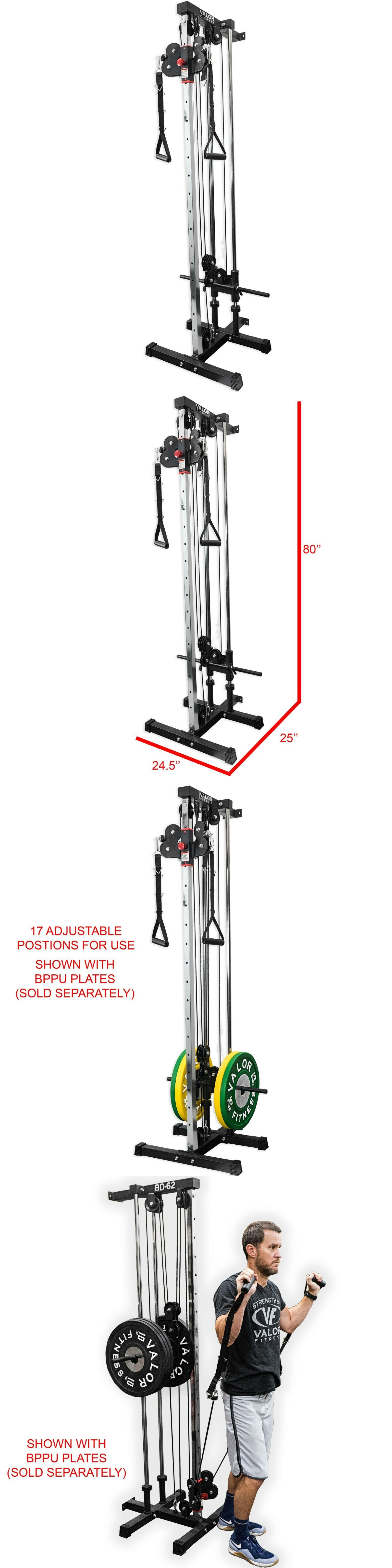 Valor Fitness Bd 62 Wall Mount Cable Station With Adjustable Dual Pulley System At Home Gym Pulley No Equipment Workout