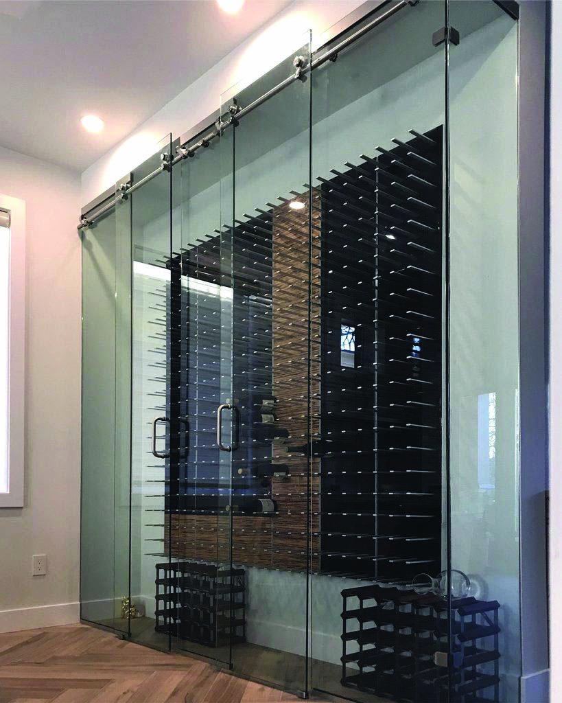Moving Door Styles For Bedroom Glass Wine Cellar Wine Cellar