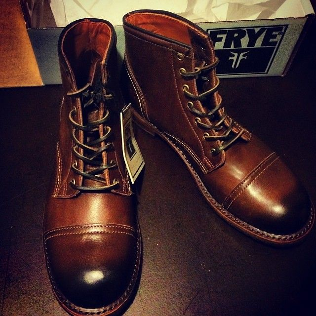 Frye Leather Boots With Cap Toe Men S Shoes Shoes