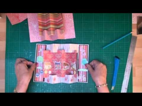 concertina card tutorial card making magic com youtube cards