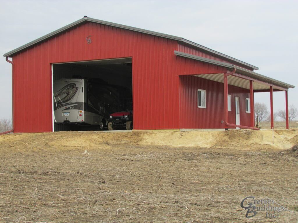 Residential Storage Hobby Shops In Iowa And Illinois Greiner Buildings Pole Barn Garage Barn House Plans Hobby Garage
