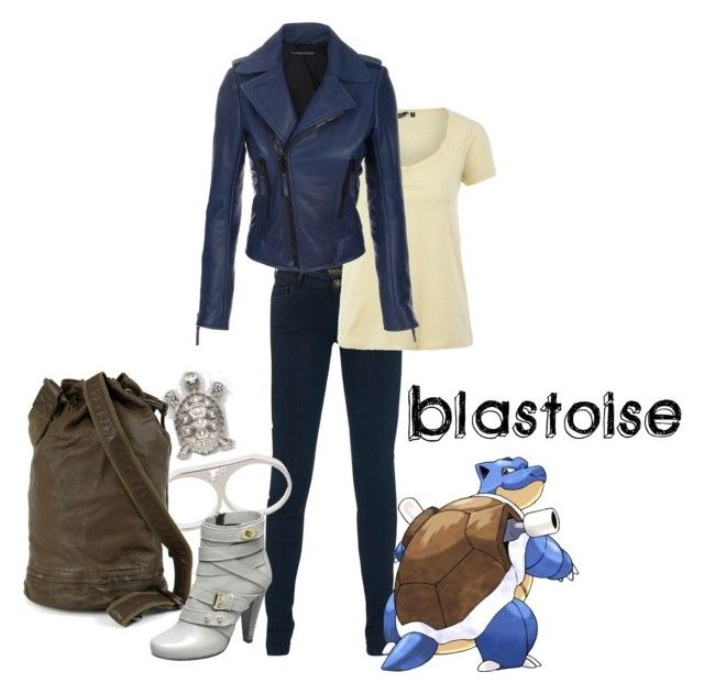 """blastoise"" by shoelacekid ❤ liked on Polyvore featuring SuperTrash, Balenciaga, Beyond Rings, blastoise and pokemon"