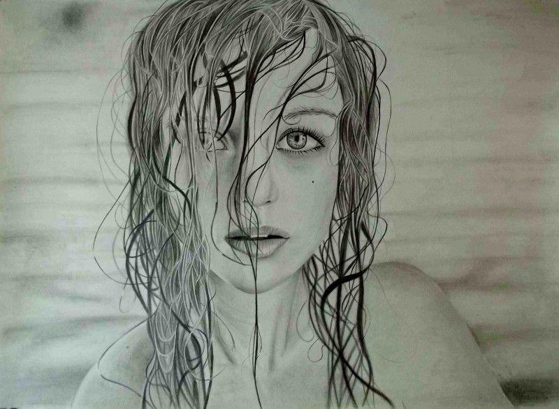 """Playa"" - Realistic Drawing by Anyelo Gonzalez"