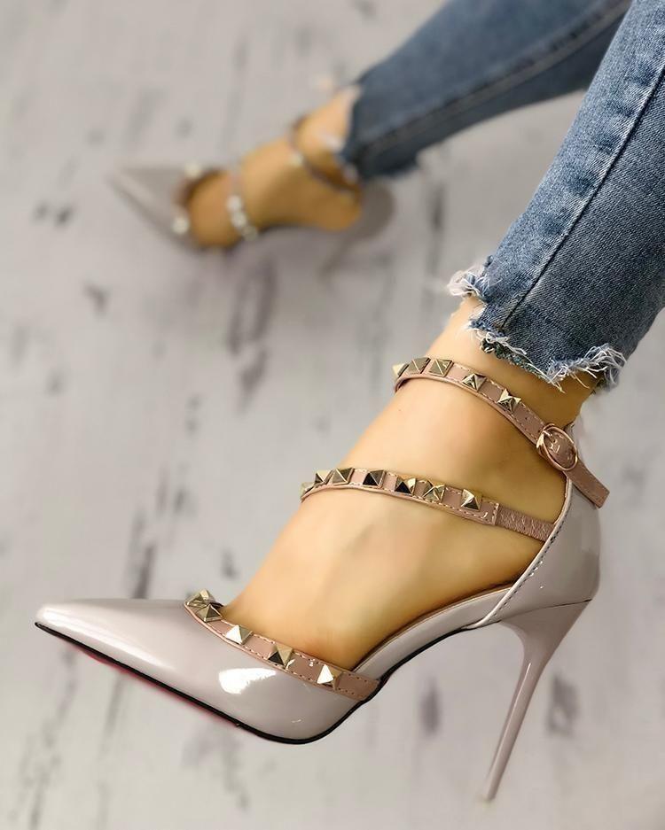 Augusto Carreno ® Luna Rosa Zapatos De Mujer Tacón Alto