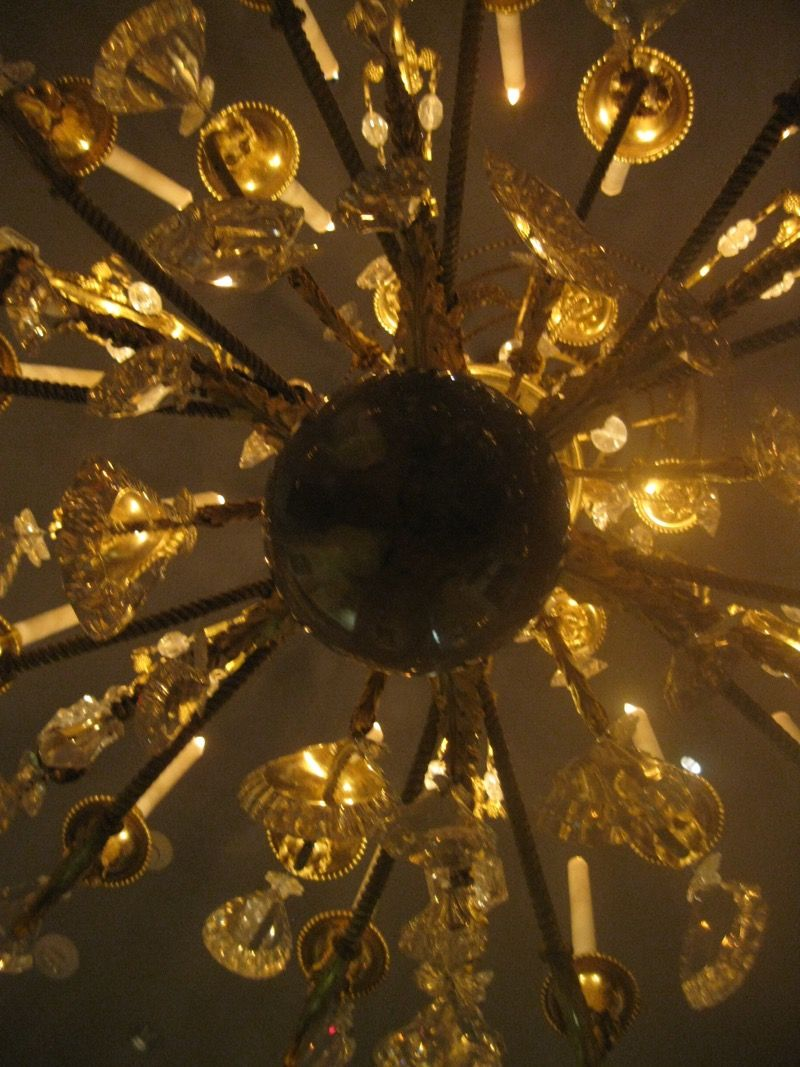 A view of the 20-light French Chandelier from directly below: From the  Marie-Antoinette State Room at The Met Museum, NYC. Christian Orlov Photo  2015. - A View Of The 20-light French Chandelier From Directly Below: From