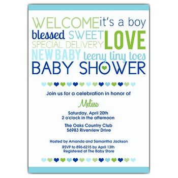 Get Free Template Baby Boy Shower Invitation Wordings Free Online