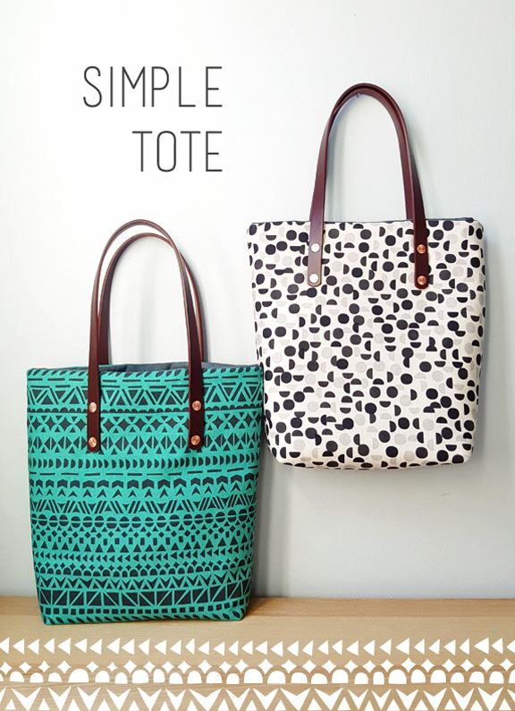 Simple Tote Tutorial « thelongthread.com | bags-pouches-purses ...