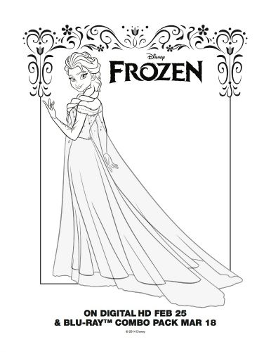 Coloring Book Frozen Download : Free printable coloring page elsa from disneys frozen