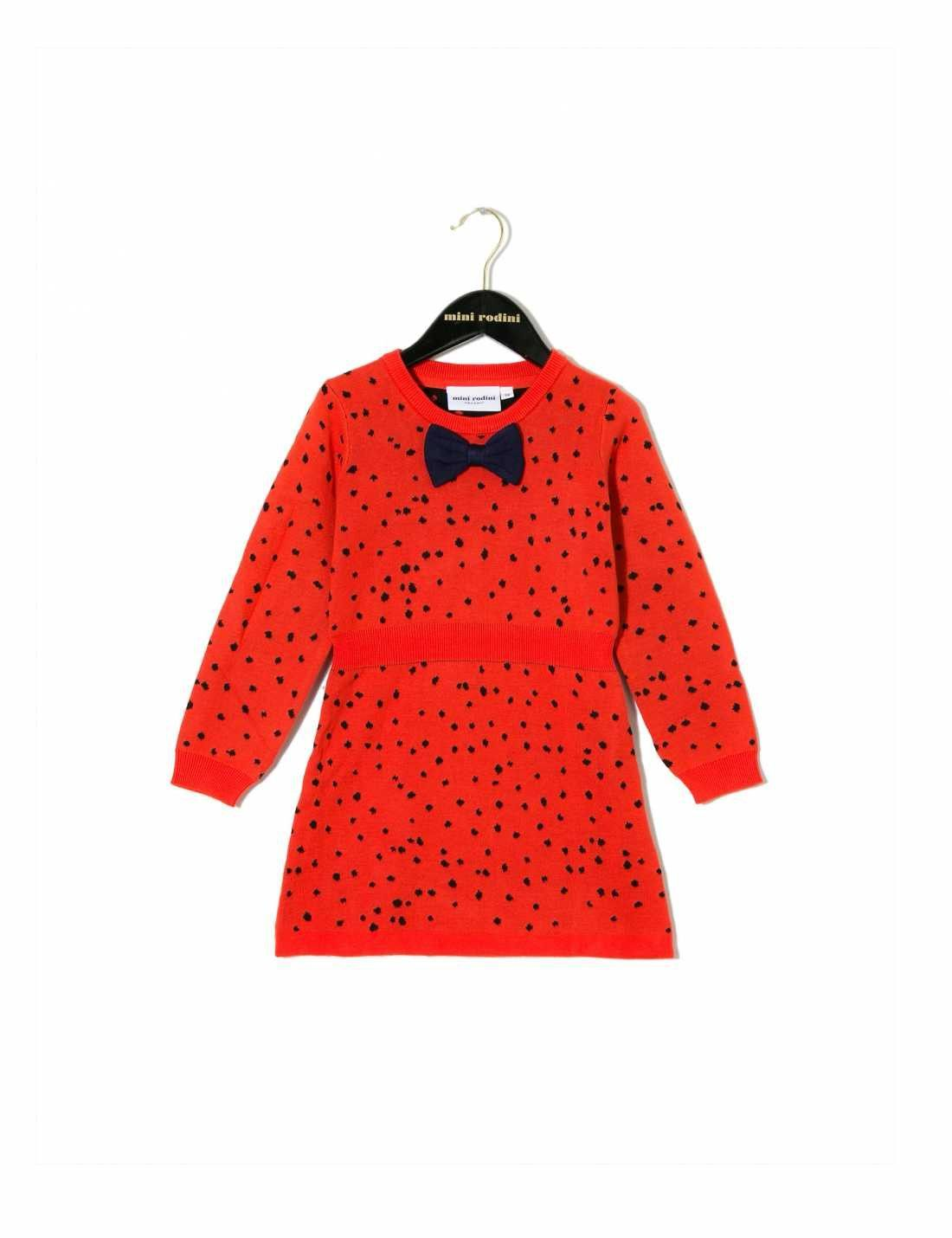 Knitted dress - red
