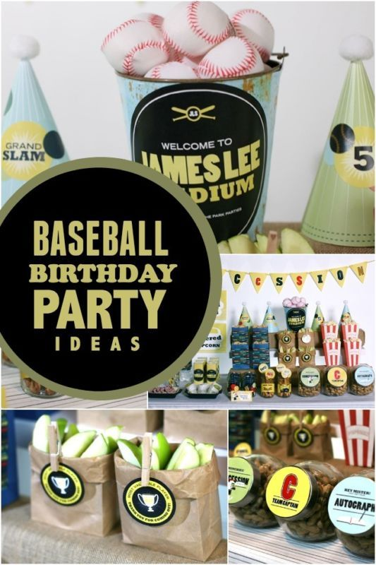 Home Run Baseball Birthday Party Ideas