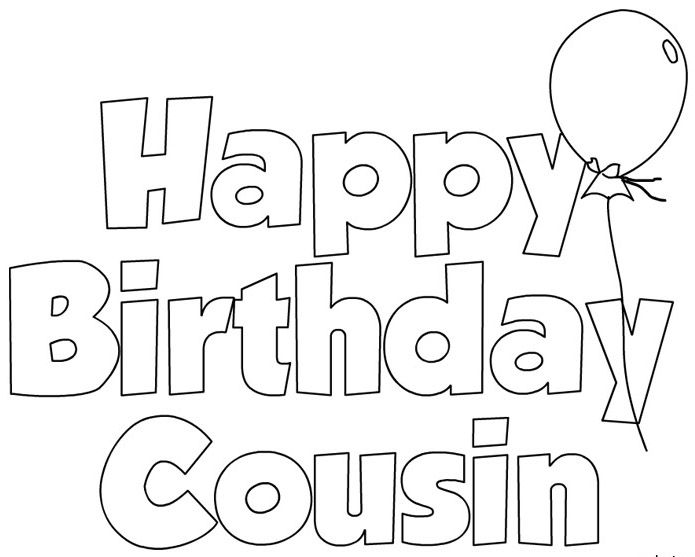 happy birthday cousin balloon coloring pages