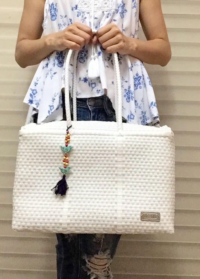 Bolsa Blanca  Handmade  Mexico  Wovenbag Bolsa De Plastico Tejidas 68640fbd07d5