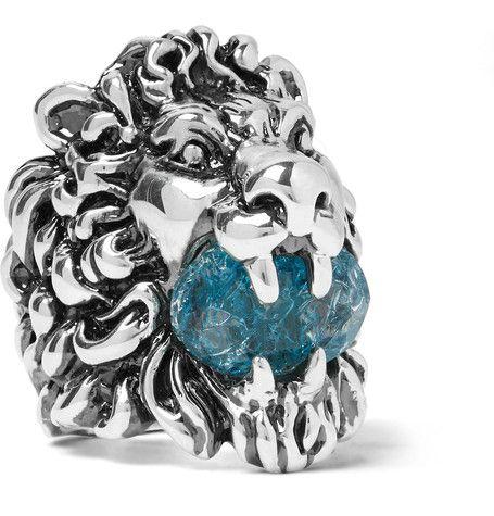 71bc510e9 GUCCI Lion'S Head Silver-Tone Swarovski Crystal Ring. #gucci #jewellery