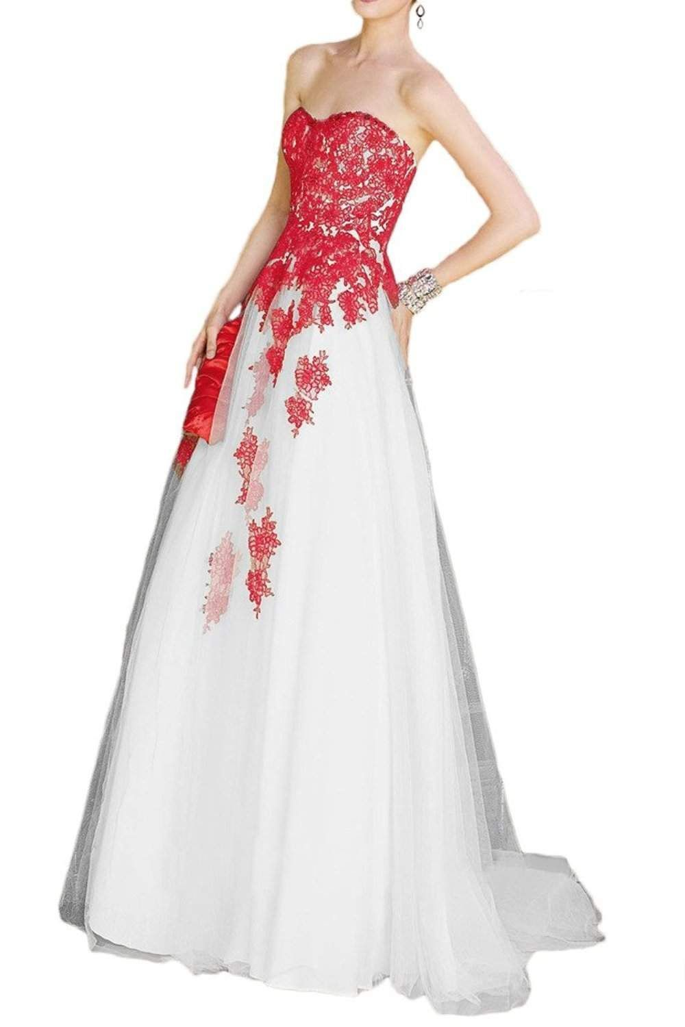 Wedding gown with red accents   Wedding Dress with Red Accents  Wedding Dresses for Guests