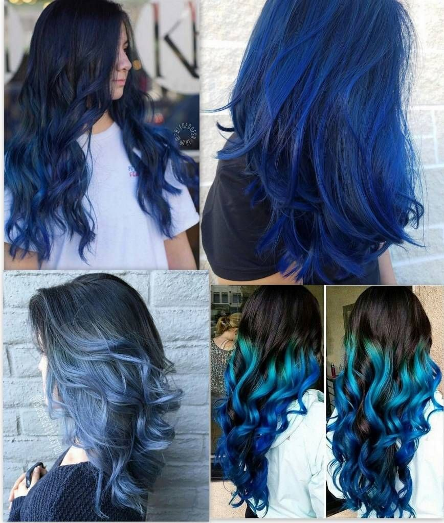 Pin On Pelo Color Azul 200 Ideas Con Imagenes