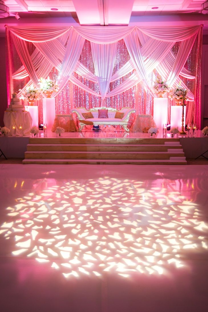 Unique wedding stage decoration ideas  Intricate Draping and Lit Dance Floor  Photo Fairy Tale