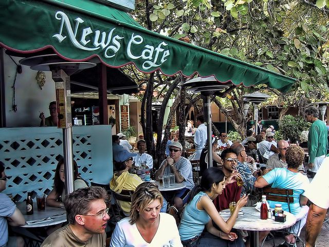 News Cafe News Cafe South Beach Outdoor Food