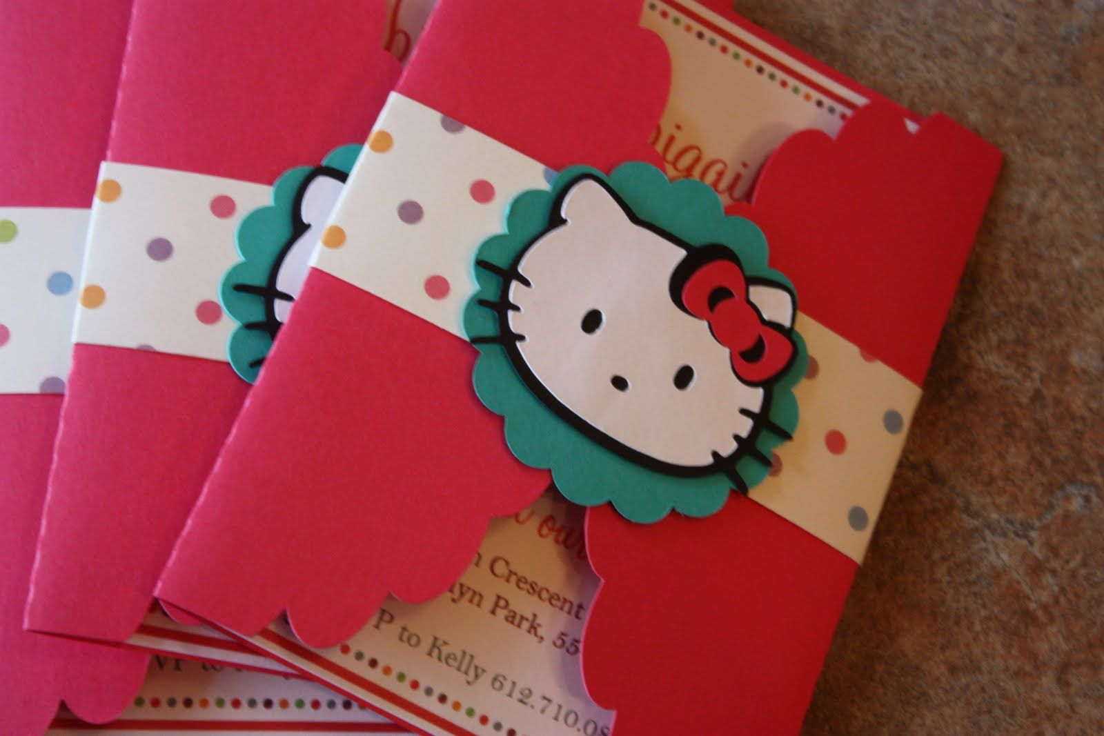 creative pink hello kitty party invitation design idea with white, invitation samples